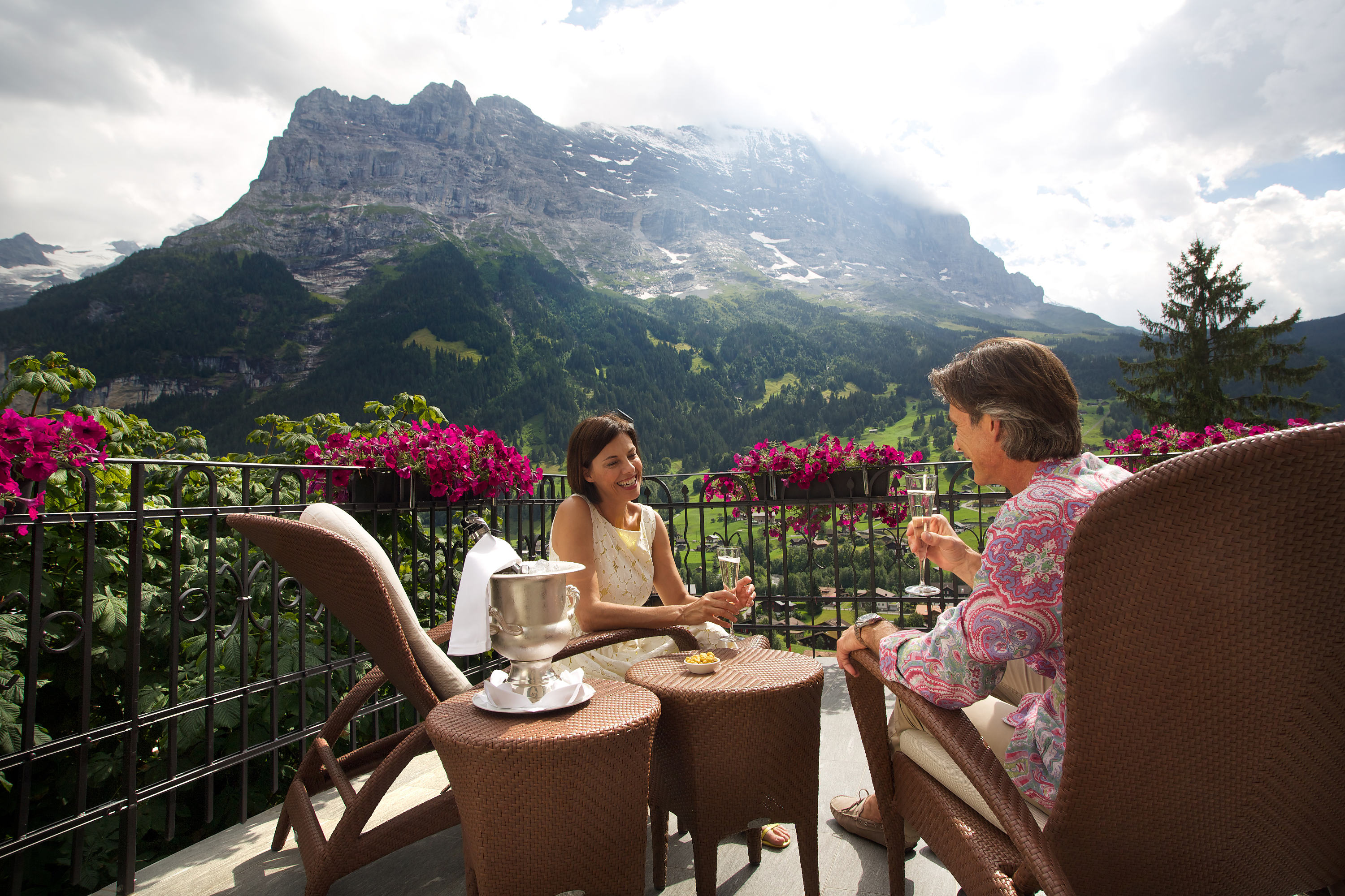 Terrace with views of the Eiger · Belvedere Swiss Quality Hotel Grindelwald